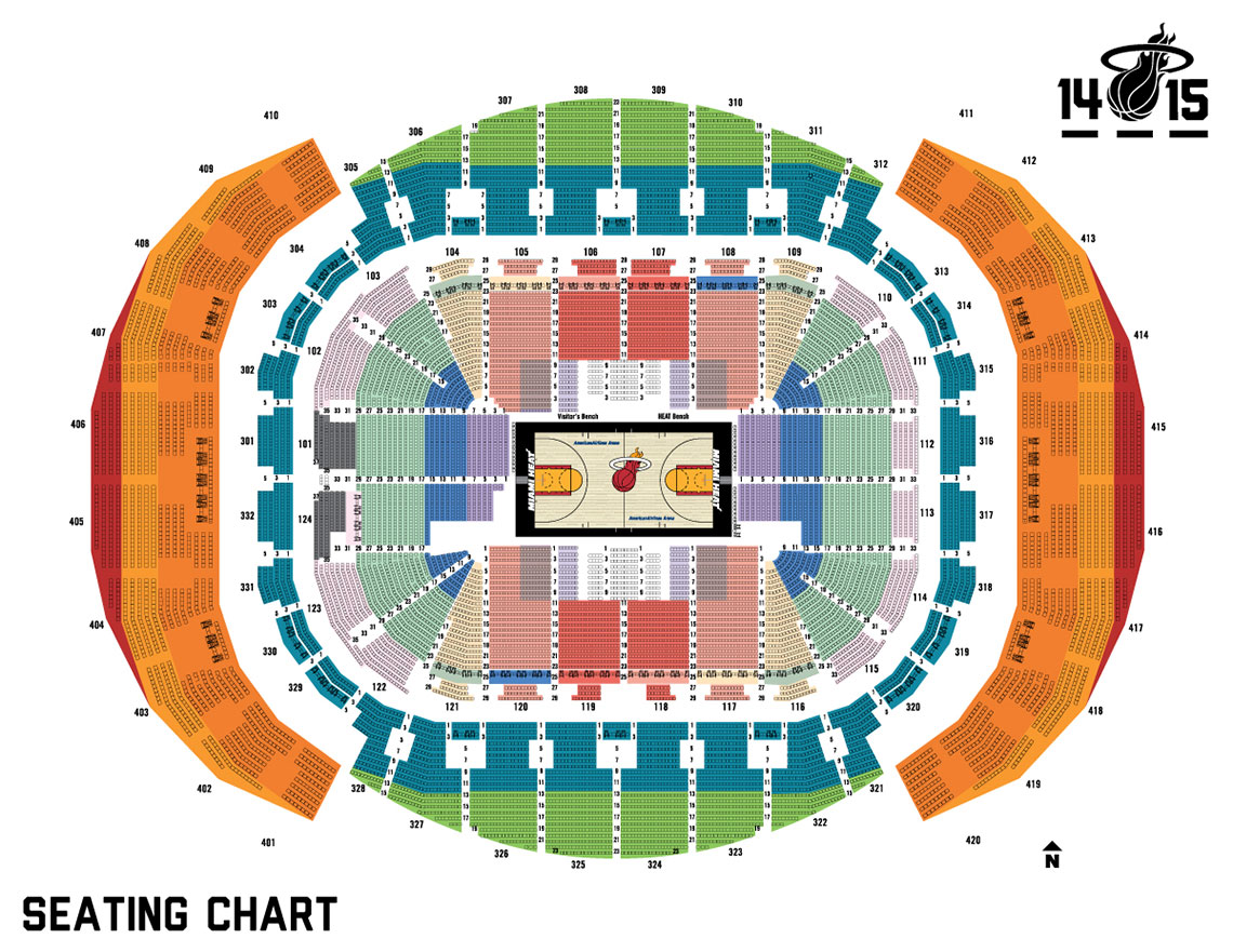 miami heat seating chart with seat numbers | Brokeasshome.com