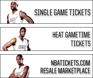 Purchase single game tickets on Ticketmaster, HEAT Mobile App, or the NBA Resale Marketplace