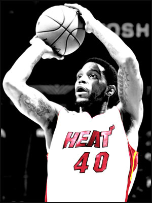 Udonis Haslem takes a shot