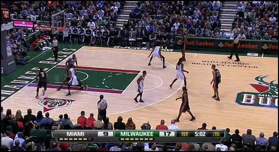 Screen capture: HEAT @ Bucks