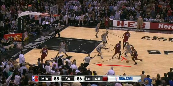 Shane Battier and Norris Cole continue their runs all the way to the corners