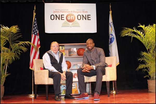 Dwyane Wade and Author James Patterson