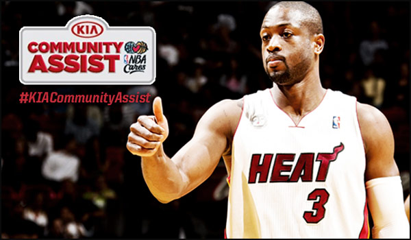 Dwyane Wade is Nominated for 2013 Seasonlong Kia Community Assist Award