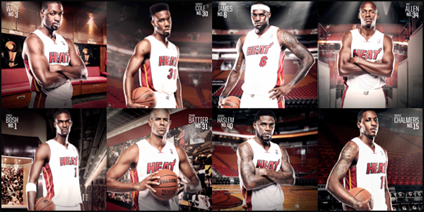 Player poster featuring all Miami HEAT players