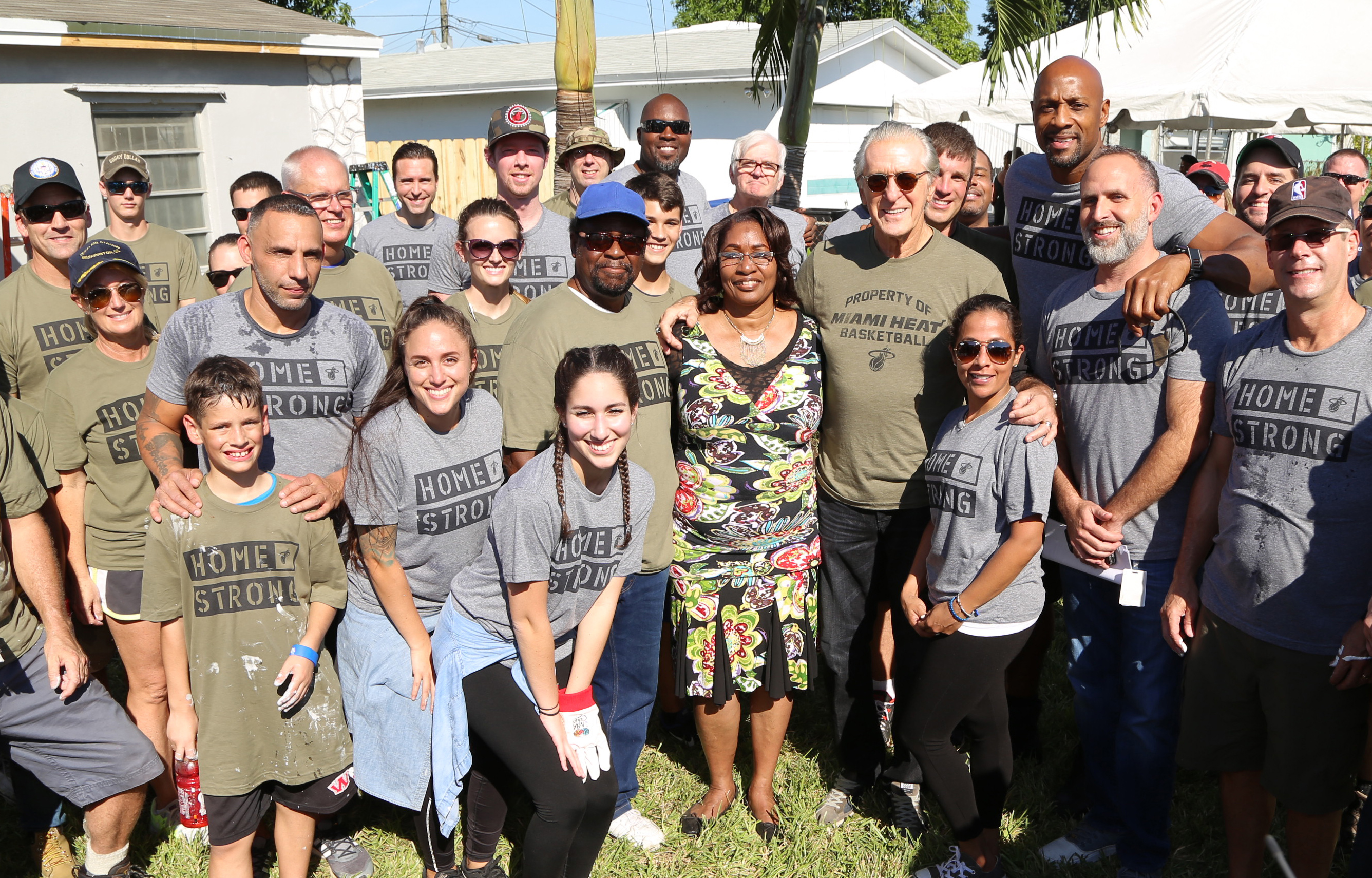 Miami HEAT Home Strong Renovate Homes for Local Veterans