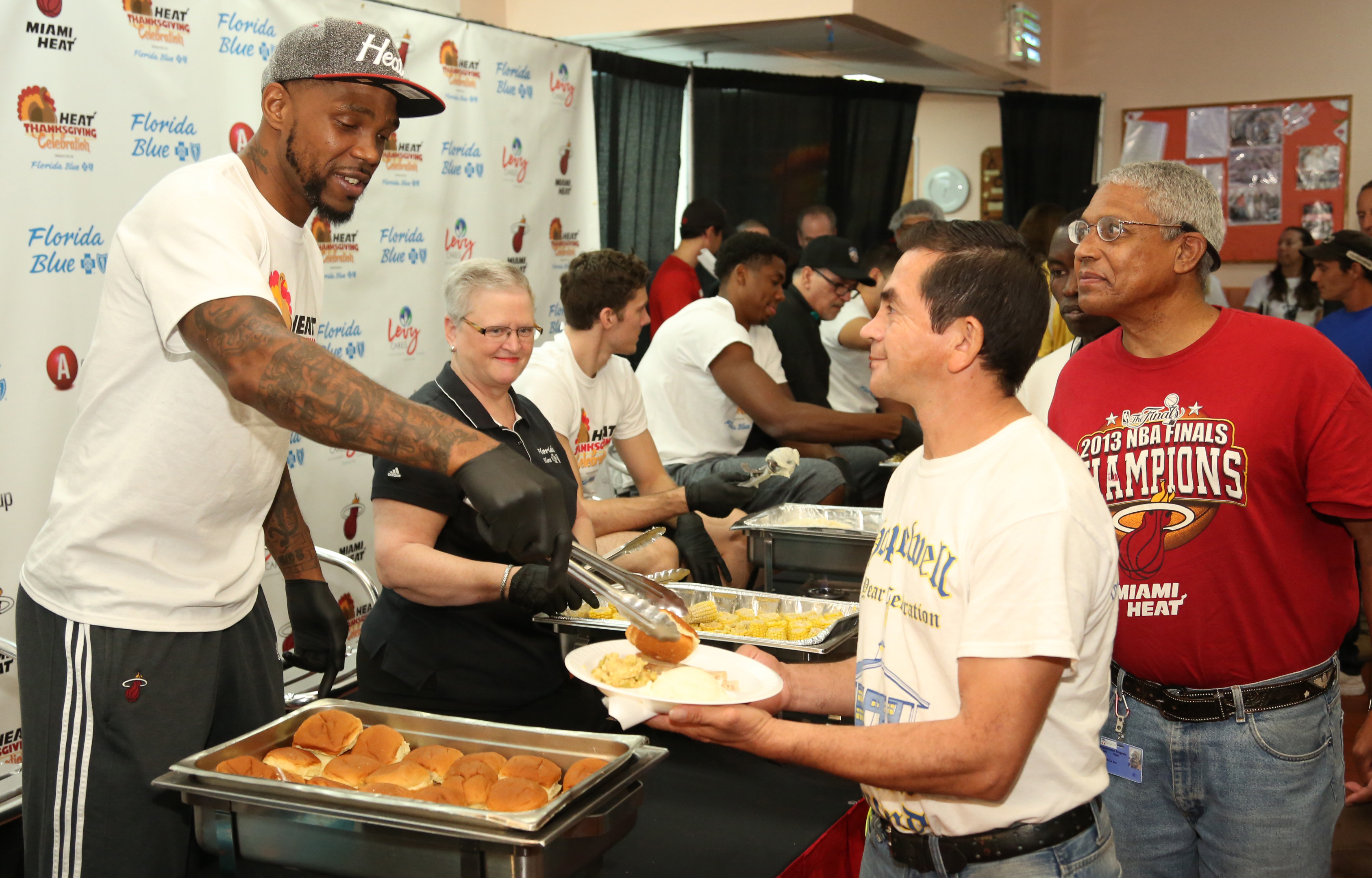 Miami HEAT host 25th Annual HEAT Thanksgiving Celebration