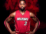Miami RED Dwyane Wade Wallpaper