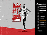LeBron James Name Collection Calendar Wallpaper