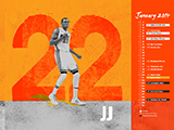 James Jones Name Collection Calendar Wallpaper