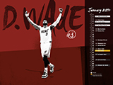 Dwyane Wade Name Collection Calendar Wallpaper