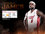 LeBron James April Schedule Wallpaper