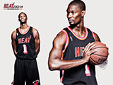 Chris Bosh Throwback Black Wallpaper