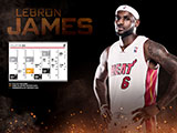 LeBron James January Calendar Wallpaper
