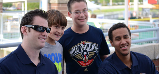 Roberts, Smith Appear at Pelicans Night at Zephyr Field
