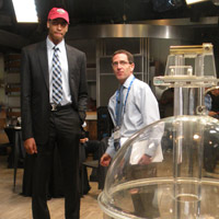 Pelicans Anthony Davis takes a tour of the NBA Draft Lottery studio