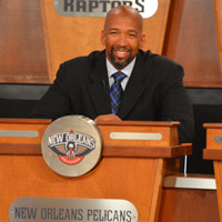 Pelicans head coach Monty Williams being introduced at the NBA Draft Lottery