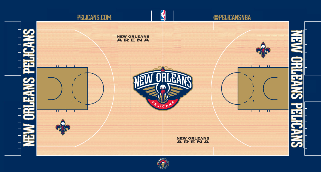 Introducing The New Orleans Pelicans Court New Orleans