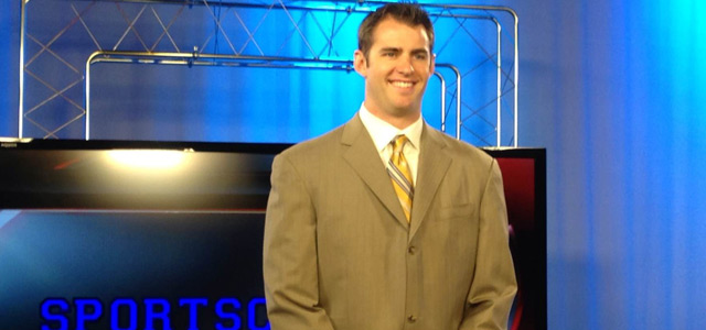 Pelicans Jason Smith learns broadcasting pointers at Sportscaster U