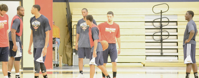 Pelicans enjoy playing in practice facility for first time