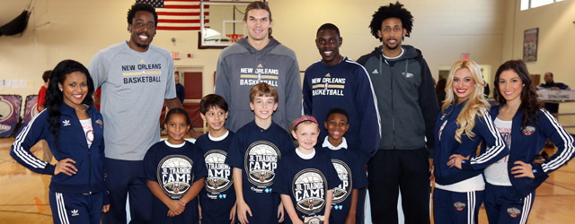 Pelicans players join St. George Episcopal School students for a Junior Training Camp