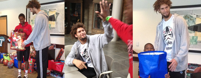 Lopez Donates Gifts to Son of a Saint Youngsters