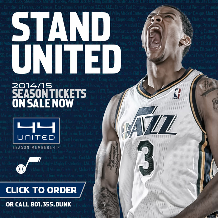 Click to buy 2014-15 Utah Jazz Season Tickets