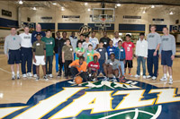 Jazz Coaches Hold Basketball Clinic for Underprivileged Youth