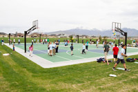 Utah Jazz Community Basketball Court Opens at Neptune Park
