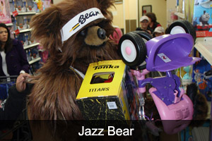 Jazz Bear in the Community