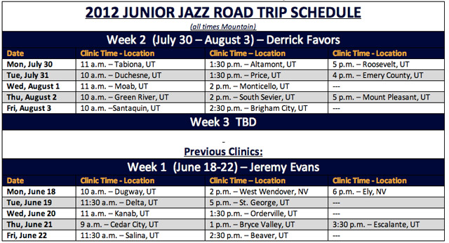 Junior Jazz Clinics