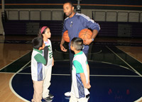 Utah Jazz Players and Coaching Staff Host Basketball Clinic for At-Risk Youth