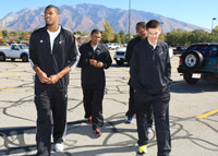 Utah Jazz Players Greet Local Fans