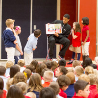 "Jazz Players Visit Local Schools as part of ""Be A Team Player - Read!"" Contest"