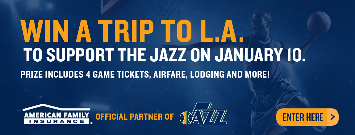 Enter for a chance to win a Trip to L.A. to Support the Jazz on the Road!