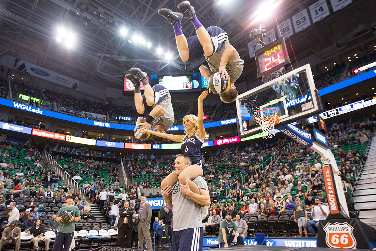 utah jazz dunk team utah jazz