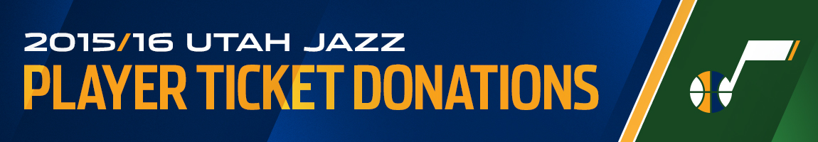 Utah Jazz Player Ticket Donations