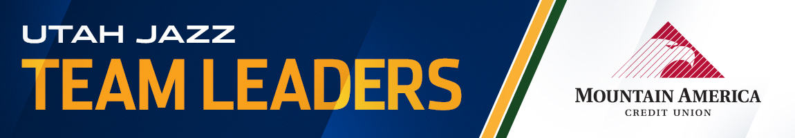 2014-15 Utah Jazz Team Leaders Presented By Mountain America Credit Union