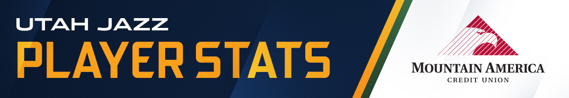 Utah Jazz Player Stats –  Presented By Mountain America Credit Union