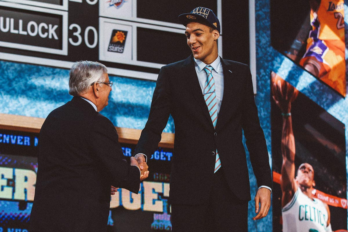 Rudy Gobert's draft photo