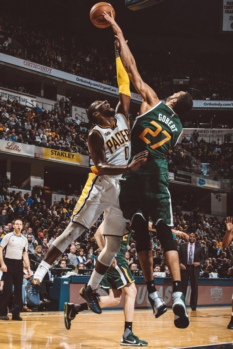 Rudy Gobert blocking