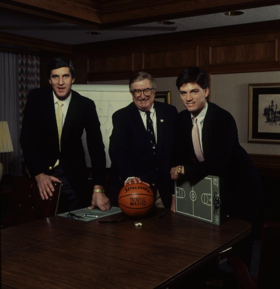 Jerry Sloan with Frank Layden.