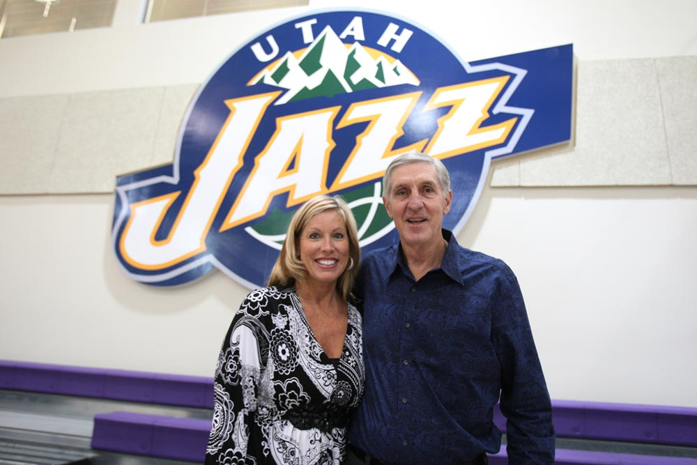 Jerry Sloan with Tammy Sloan.