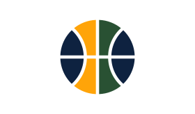 08cea51ac TRI-COLORED BALL PARTIAL   The tri-colored ball is now an official logo for  the Jazz  it is featured at midcourt and at the waistline of the the home