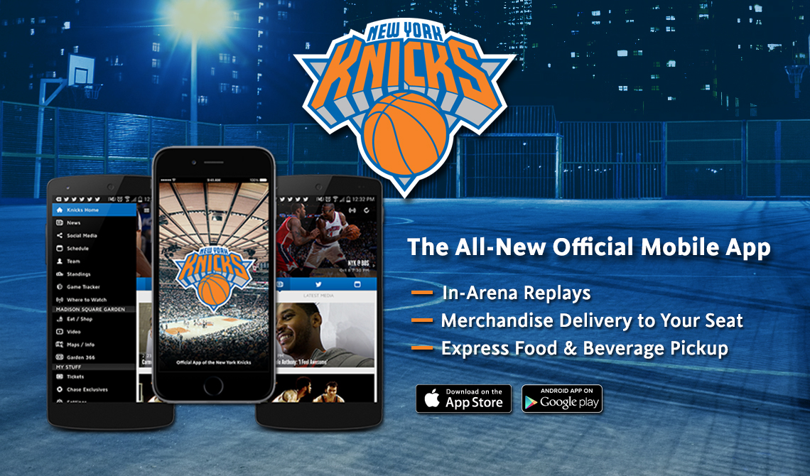The Official New York Knicks Mobile App></div>