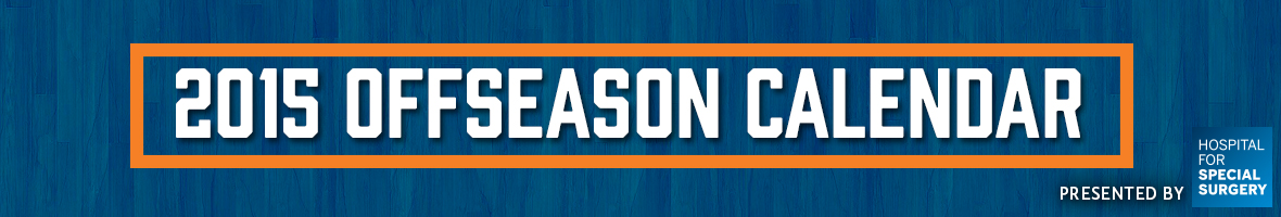 Knicks Offseason Calendar