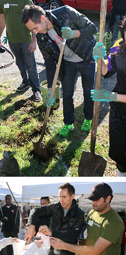 Steve Nash plants a tree