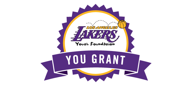 Lakers Youth Foundation YOU Grant! Logo