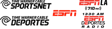 Time Warner Cable Sportsnet, Time Warner Deportes, ESPN, ESPN LA 710am, ESPN Deportes 1330am