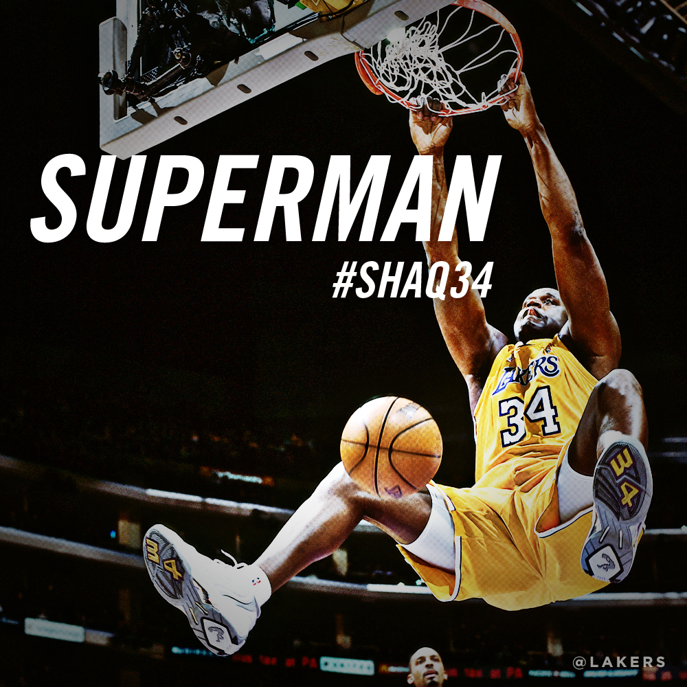 Shaquille O Neal Graphics Los Angeles Lakers