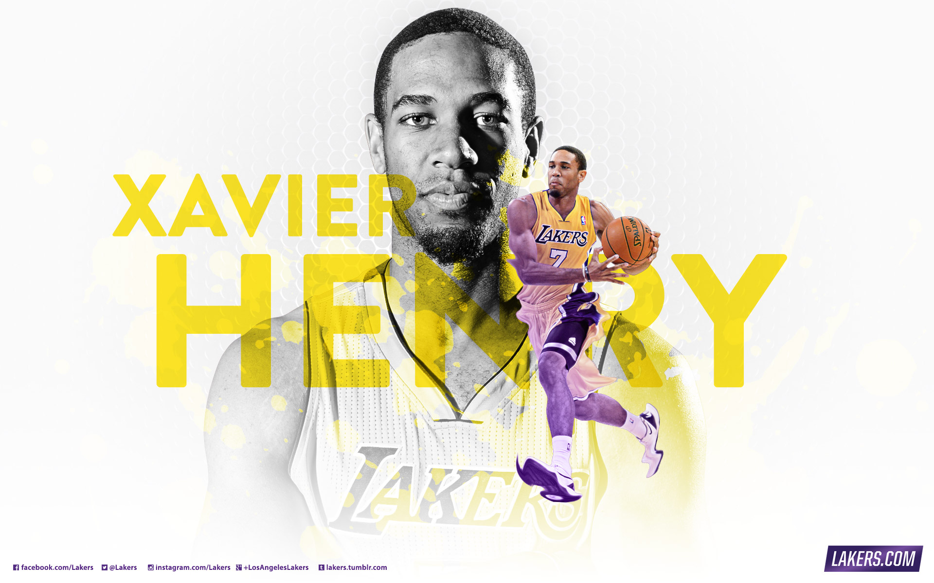 2013 14 lakers wallpapers los angeles lakers xavier henry wallpaper voltagebd Image collections